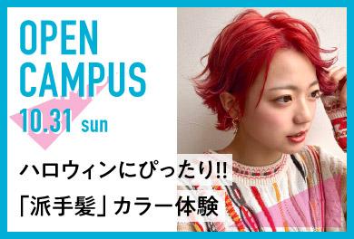 オープンキャンパス 美容師 派手髪カラー体験