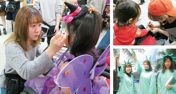 HALLOEEN EVENT HAIR MAKE FACE PAINT